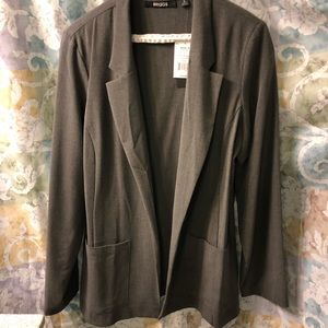 NWT Charcoal Grey Blazer by Briggs